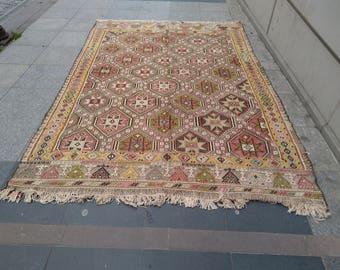 """Handmade kilim rug225x175cm 90""""x70"""",Turkish kilim rug,Anatolian kilim rug,vintage kilim rug,tribal kilim rug, Handmade kilim rug"""