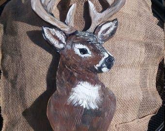 Wooden deer 17x10