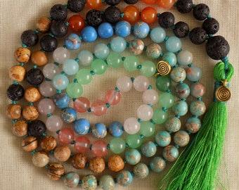 Moana-inspired Mala Necklace - Reiki activated - 108 bead mala necklace - prayer beads