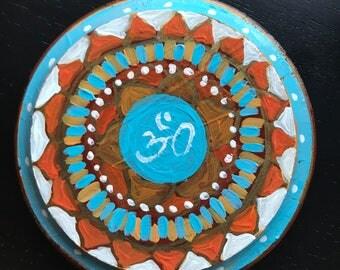 "4"" Mandala Centerpiece with OM"