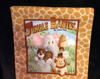 Fabric Book about baby jungle animals
