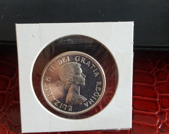 1963 Canada  Silver 50 Cents PL Cameo