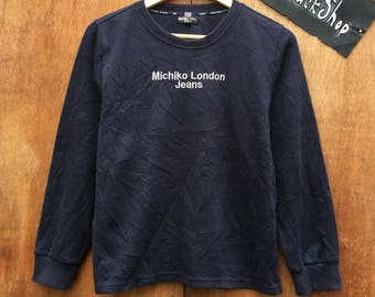 Vintage 90s michiko london spellout embroidery sweatshirt