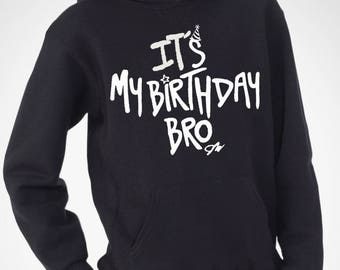 Jake Paul Its My Birthday Bro  Youth hoodie. 100% COTTON. Jake Paul Merch