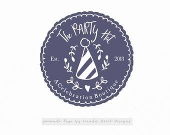 Party Logo-Boutique Logo-Premade Logo-Business Logo-Round Logo-Modern Logo-Photography Logo-Heart Logo-Children's Logo-Branding