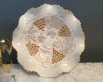 A lovely gold accent candy dish