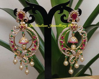 Multi colour cz earrings