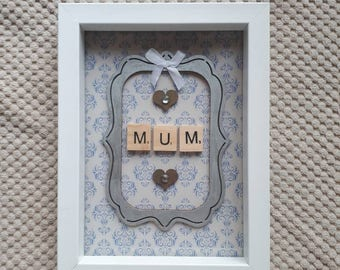 Mum Scrabble Art Frame