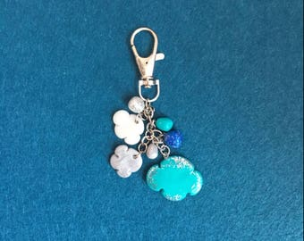 Clouds Keychain , Clouds Keyring , Clouds Charm