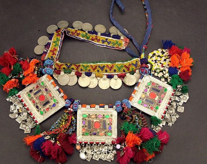 Afghan Tribal BELT Bellydance Dangles Turkoman 868h8