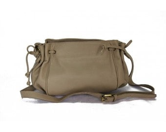 MJ Lady Leather Bag Handmade in Morocco,Gray Color Leather Goods