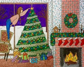 Decorating tree -- card