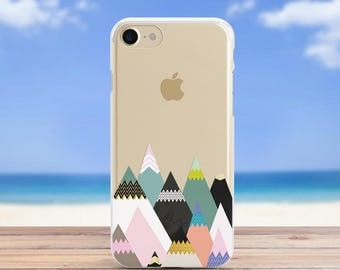 Geometry Mountains case Iphone 7 Case Iphone X Case Samsung S7 Case Iphone 6s Case Samsung S8 Case Mountains Iphone 8 Case Geometry Iphone