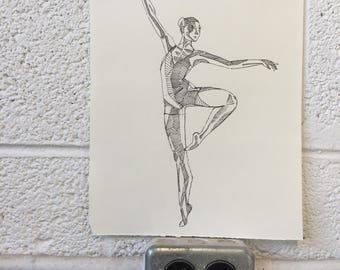 Original dancer drawing