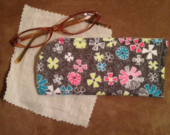 Snowflake Eyeglass Case/ Girl Eyeglass Case