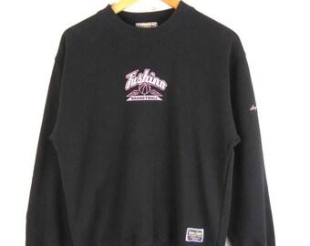 Vintage Fishino Basketball Crew Neck Sweatshirt Nice Design
