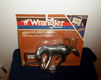 Vintage Ertl Wrangler Bucking Bronco Ranch/Farm Horse,#252,New Old Stock/NOS-Sealed,1980's, Molded, Rodeo, British Crown Colony, Hong Kong