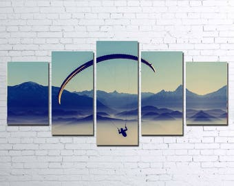 Paragliding 5pc Wall Canvas