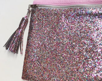 Glitter Clutch - Large - Rainbow/Candy