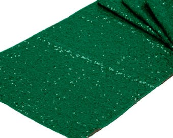 Emerald Green Sequin Table Runner Wedding Table Setting Sale Boho Cloth Sparkly Wholesale Sequin Garden Theme Wedding Glitter Green Runner