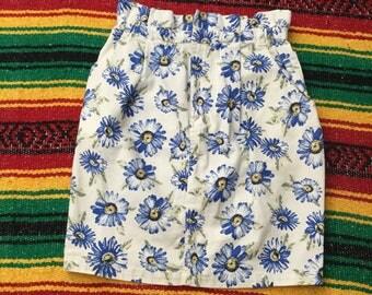Floral Highwasted 90s skirt