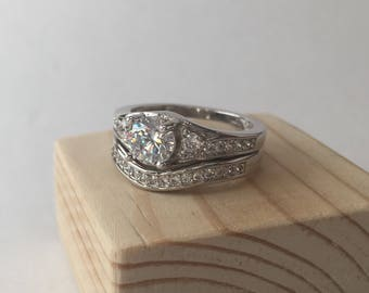 ring set in sterling silver