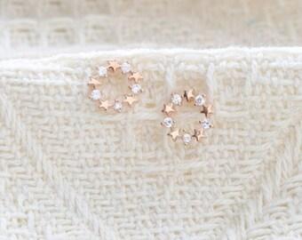glitter star earring