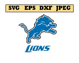 Detroit lions SVG File - Vector Design in, Svg, Eps, Dxf, and Jpeg Format for Cricut and Silhouette, Digital download !!!!!!!!!!!!!!!!!!