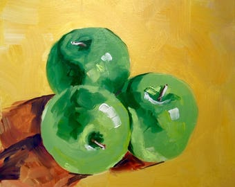 Apples Oil Painting