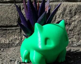Pokemon Planter/Bulbasaur/Bulbasaur Planter/Bulbasaur Print/3D Printed Planter/Planter Desk Gift/Pokemon/Pokemon Pot/Pokemon Gift/ Planter