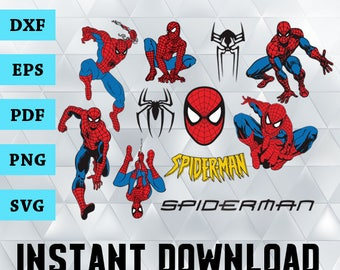 Spiderman vector etsy spiderman svg spiderman clipart spiderman svg files for silhouette cameo spiderman png stopboris Image collections