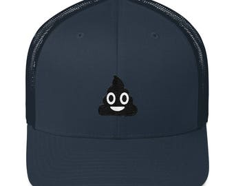 Poop Emoji Hat, Funny Poop Emoticon Cap