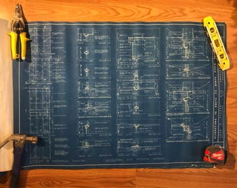 Blueprints from 1958 (set of 5)