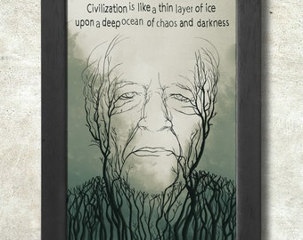 Werner Herzog print + 3 for 2 offer! size A3+  33 x 48 cm;  13 x 19 in