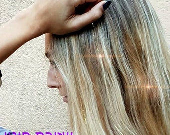 10 Silver and gold head hair strings
