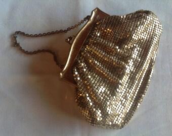 Vintage Gold mesh handbag by Whiting &Davis