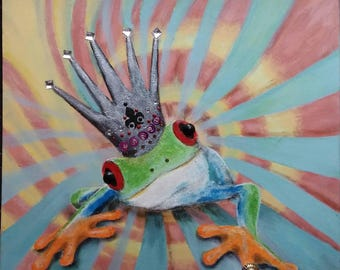 crowned frog