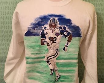 Vintage Emmit Smith Dallas Cowboys #22 1990s NFL Football Sweatshirt / Super Bowl / Cowboys Sweatshirt / 90s sweatshirt Large