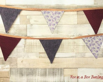 Ayana: Red and Purple Floral Bespoke Bunting