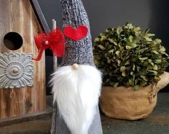 Valentine Nordic Gnome  Scandinavian Love Heart Nisse Tomte