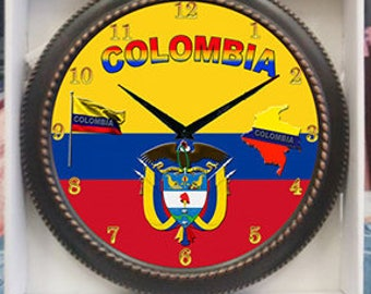 Colombia Clock  Decor wall Clock