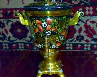 Vintage Electric Kettle Samovar Painted Teapot