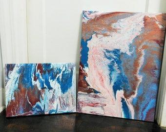 Acrylic Pour Canvas Set - 18x24 & 12x16