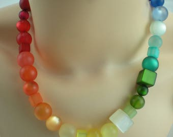 Necklace Polaris Rainbow Nickel-Free magnet selectable length of 42-52 cm S15
