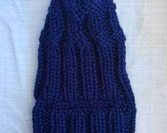 Duke Blue Fold Over Beanie adult