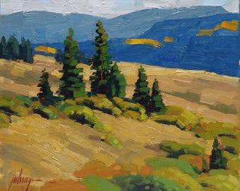 """Fall's Approach 8x10"""" Plein Air Oil Painting"""