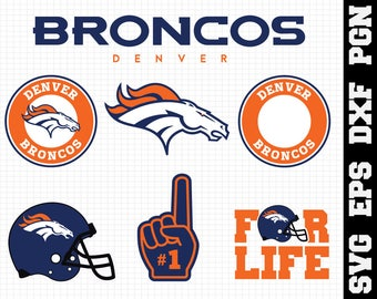 Denver Broncos Svg, cut files, print files, clipart, vector, T-shirt design, football logo, circut, silhouette cameo