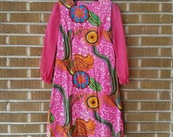 psychedelic mini dress 60s