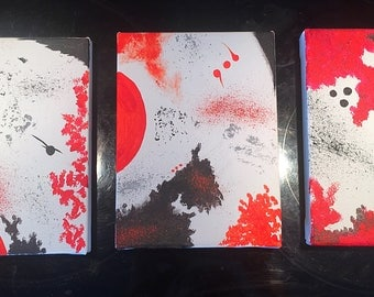 Abstract painting Red & Black3