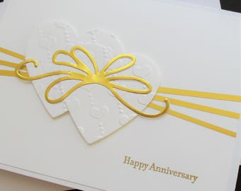 Anniversary Card, Congratulations Card, Handmade Greeting Card